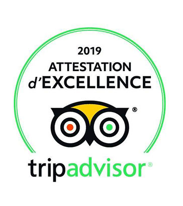 Attestation d'excellence - Tripadvisor
